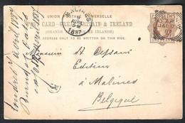 GREAT BRITAIN Postal Stationery (private Print On The Back) Mi. P18 Sent 1887 > B - Luftpost & Aerogramme