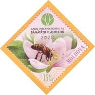 2020 Moldova Moldavie UNO: 2020 - International Year Of Plant Health, Insectes , Flowers , Bees 1v Mint - Bienen