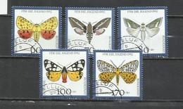 7472A-ALEMANIA SERIE COMPLETA USADO MARIPOSAS INSECTOS 1992 ESPAÑA YVERT 1430/34 VALOR 13,50€ . - Schmetterlinge