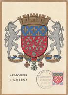 Carte Maximum FRANCE 1962/65 - N°Y&T 1352 (AMIENS - ARMOIRIES) Obl Sp 1er Jour 21/07/1962 (Ed Imbert) - 1960-69