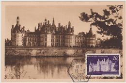 FRANCE 1952 CARTE POSTALE Château De Chambord N°YT 924 Cachet Chambord 19.6 1952 1952 Editions R. Dorange - 1950-59