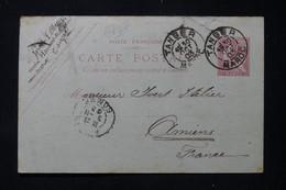 MAROC - Entier Postal Type Mouchon, De Tanger Pour Yvert Et Tellier à Amiens En 1903, Voir état - L 86286 - Brieven En Documenten