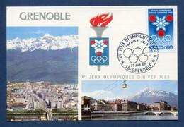 ⭐ France - FDC - Premier Jour - Carte Maximum - Jeux Olympiques - 1967 ⭐ - 1960-69