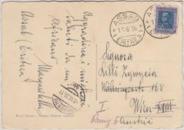 Ital. Eritrea - 1,25 L. Freimarke Karte N. ÖSTERREICH Assab - Wien 1936 - Zonder Classificatie