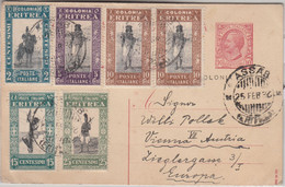 Ital. Eritrea - 10 C. Ganzsache + Zusatz Karte N. ÖSTERREICH Assab - Wien 1932 - Zonder Classificatie
