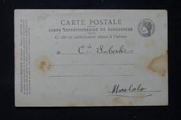 MADAGASCAR - Carte Du Corps Expéditionnaire De Madagascar Pour Le Poste De Marololo Pour Demande De Timbres - L 86288 - Storia Postale