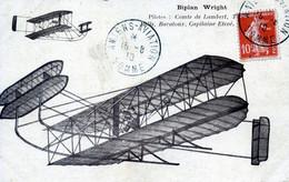 AVIATION   BIPLAN WRIGHT  PILOTE PAR LE COMTE DE LAMBERT - ....-1914: Vorläufer