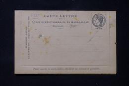 MADAGASCAR - Carte Lettre Du Corps Expéditionnaire De Madagascar, Non Circulé, Dans L'état - L 86290 - Storia Postale