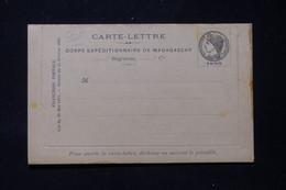 MADAGASCAR - Carte Lettre Du Corps Expéditionnaire De Madagascar, Non Circulé, Dans L'état - L 86292 - Storia Postale