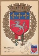 Carte Maximum FRANCE 1966 - N°Y&T 1510 (SAINT-LO - ARMOIRIES) Obl Sp 1er Jour 17/12/1966 (Ed Imbert) - 1960-69