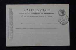 MADAGASCAR - Carte Postale Du Corps Expéditionnaire De Madagascar Avec Oblitération D'Armée En 1895 - L 86293 - Storia Postale