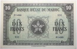 Maroc - 10 Francs - 1944 - PICK 25a.3 - SUP+ - Morocco