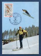 ⭐ France - FDC - Premier Jour - Carte Maximum - Jeux Olympiques - 1968 ⭐ - 1960-69