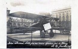 AVIATION   AVION ALLEMAND ABATTU  PAR NOS  CANONS SPECIAUX  EN 1917 - 1914-1918: 1. Weltkrieg