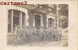 CARTE PHOTO : LE 210e REGIMENT D'INFANTERIE CYCLISTE VELO MILITARIA POILU MARIUS CHEVALIER 55 MEUSE - Regiments