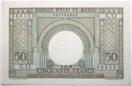 Maroc - 50 Francs - 1949 - PICK 44 - SPL - Morocco