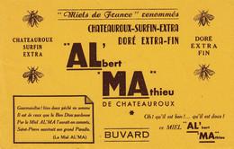 BUVARD - Blotter - ALMA -  Albert Mathieu -  Miel De France à Chateauroux. Vers 1950 - Non Classés