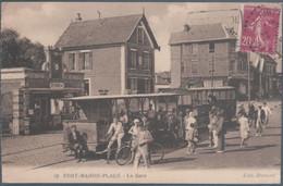 Fort Mahon Plage , Tramway , La Gare , Animée - Fort Mahon