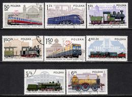 Poland 1978 Mi# 2543-2550 Used - Locomotives In Poland / Trains - Usados