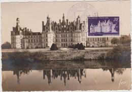 FRANCE 1952 CP Château De Chambord N°YT 924 Cachet 9è Exp. Phil. Cheminots PARIS 1-2.11 1952 Editions D'Art Yvon - 1950-59