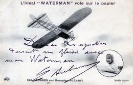 AVIATION   AUBRUN SUR MONOPLAN BLERIOT  (PUB WATERMAN) - Flieger