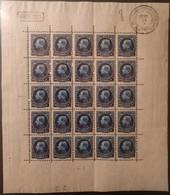 Belgium Sheet/ Belgique N°187 Feuille De 25 Avec Cachet Témoin Du 29/5/21 Sur BdF ** TB Cote 200€ - Unused Stamps