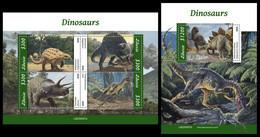 LIBERIA 2020 - Dinosaurs, M/S + S/S Official Issue [LIB200507] - Vor- U. Frühgeschichte