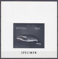 1993GuyanaBb Silver LuxMarine Fauna - Whales SPECTMEN50,00 € - Meereswelt