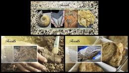 LIBERIA 2020 - Fossils, M/S + 2 S/S Official Issue [LIB200511] - Vor- U. Frühgeschichte