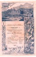 MALOJA PALACE HOTEL . CONCERT ORCHESTRE MILANAIS . 1899 - Programma's