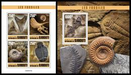 DJIBOUTI 2020 - Fossils, Trilobites, M/S + S/S. Official Issue [DJB200416] - Vor- U. Frühgeschichte