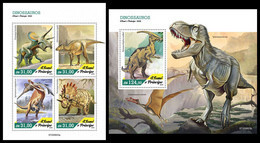 S. TOME & PRINCIPE 2020 - Dinosaurs, M/S + S/S. Official Issue [ST200603] - Vor- U. Frühgeschichte
