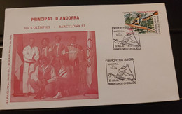 FDC ANDORRE Andorra. 1992. FDC. Juegos Olimpicos BARCELONA '92 Jeux Olympiques Barcelone 1992. - Zomer 1992: Barcelona