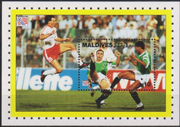 Soccer World Cup 1994 - Football - MALDIVES - S/S MNH - 1994 – Verenigde Staten