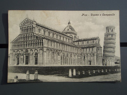 Cpa PISA Duomo E Campanile. Tampon HOTEL FLORA 15 APR 1909 ROMA - Pisa