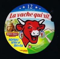 étiquette Fromage La Vache Qui Rit Bel 12 Portions 200g Abraracourcix Chef Asterix Obelix Devient 1 Héros Du Film - Cheese