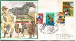 Rodeo Australien, Chevaux Et Vachettes. Corryong (Gateway To The Snowy Mountains) Australia.  Lettre - Kühe
