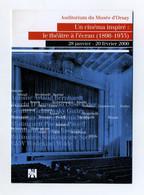 Cinéma Inspiré : Le Théâtre à L'écran. Auditorium Du Musée D'Orsay. Janvier Février 2000. Sorel, Wilde, Guitry, Etc... - Other