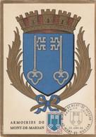 Carte Maximum FRANCE 1966 - N°Y&T 1469 MONT DE MARSAN - ARMOIRIES) Obl Sp 1er Jour 22/01/1966 (Ed Imbert) - 1960-69