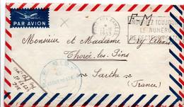 Poste Aux Armées 1953 TOE - SP 61624 - Indochine - 2 Lettres Avec Correspondance - Vietnamkrieg/Indochinakrieg