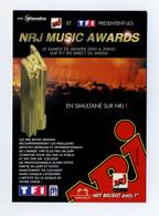 Participez à L'élection Des NRJ Music Awards. Hit Music Only. Nombreux Noms D'artistes Et De Groupes Au Verso. Avec TF1 - Music And Musicians