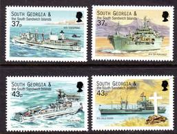 SOUTH GEORGIA - 2001 ROYAL FLEET AUXILIARY VESSELS SET (4V) FINE MNH ** SG 324-327 - Georgias Del Sur (Islas)