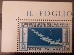 Italy/Italie PA25 CdF ** TB Cote 1000€ - 1946-60: Nieuw/plakker