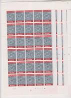 COB 1271 Les 50 Ans De L'Office Des Chèques Postaux Planches 1-2-3-4 ** Neuf Sans Charnière Et Non Pliée - Ganze Bögen