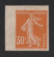 """Semeuse à 20c Et à 30c  Variété """"non Dentelé"""" - Curiosities: 1900-20 Mint/hinged"""