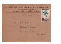 LETTRE A EN TETE DE CRECY EN BRIE SEINE ET MARNE - 1921-1960: Période Moderne
