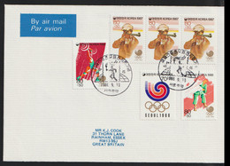 Korea Cover 1988 Seoul Olympic Games With A Torch Relay Postmark (G123-37) - Zomer 1988: Seoel