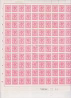 COB 1728 ** Neuf Sans Charnière Panneau De 100 - Ganze Bögen