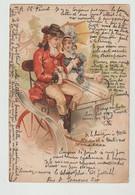 CPA  / JEUNE COUPLE EN CALECHE / 1905 - Otros