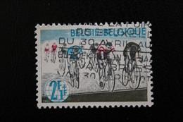 """1963,BELGIQUE Y&T NO 1256 2F+1F  POLYCHROME """"COURSE SUR ROUTE"""" OBLITERE .. - Oblitérés"""